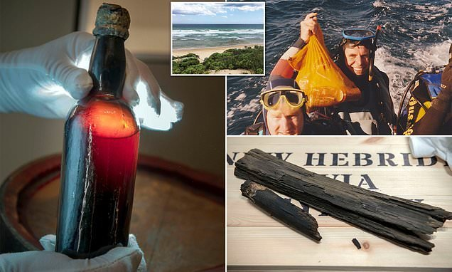 A 150-year-old beer bottle found in Australian shipwreck goes home