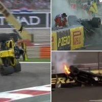 Nico Hulkenberg suffers incredible crash on lap one of Abu Dhabi GP