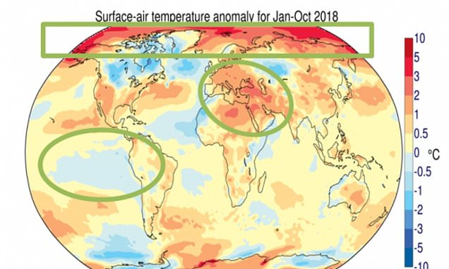 Global temperatures in 2018 are set to be the fourth highest on record