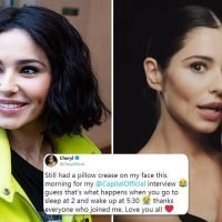Cheryl says she still had a 'pillow crease' on her face and deletes new video off Youtube after baffled fans pointed out she looks totally different
