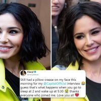Cheryl says she still had a 'pillow crease' on her face as shows off new look at Capital Breakfast Show