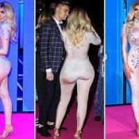 Chloe Ferry reveals new bum in skin coloured bodysuit at MTV EMAs
