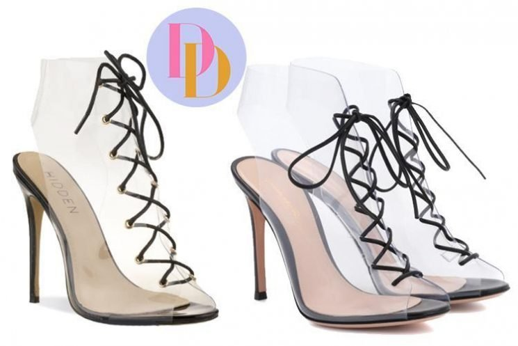 Hidden Fashion is selling a pair of £35 shoes which look just like this Gianvito Rossi £565 version… but can you tell the difference?