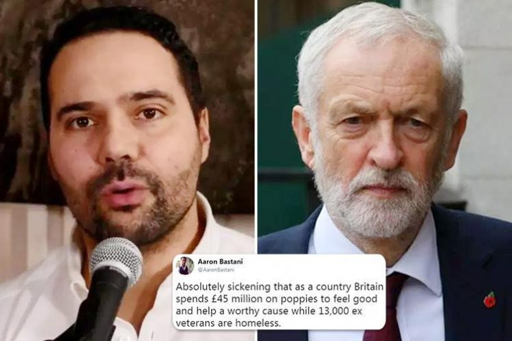 Fury as top Corbynista says it's 'sickening' that so many Brits wear 'racist' poppies and lays into veteran charity fundraisers