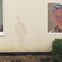 Soldier's outline appears on street named after rifleman killed in Afghanistan