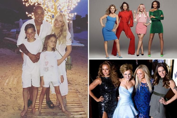 Emma Bunton posts rare snap with fiance Jade Jones and their two children after Spice Girls tour announcement