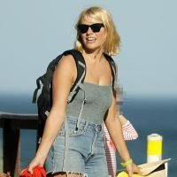 Holly Willoughby and her husband Dan take their kids to the beach after filming I'm A Celebrity