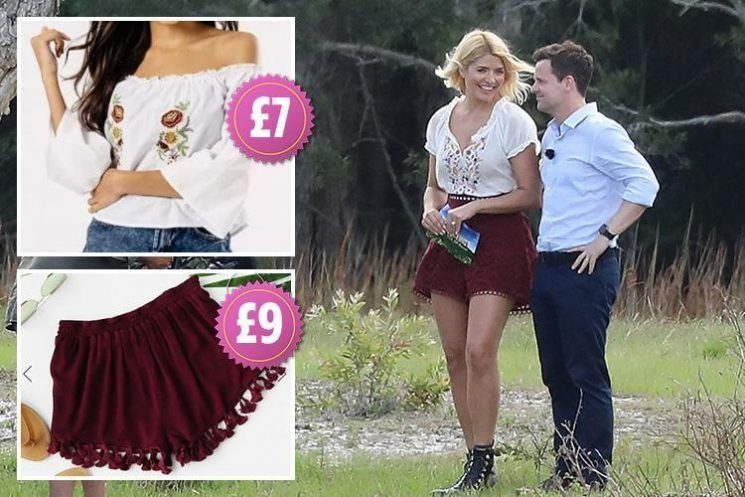Holly Willoughby looks summery in lacy shorts as she films I'm A Celebrity – here's how to get her look