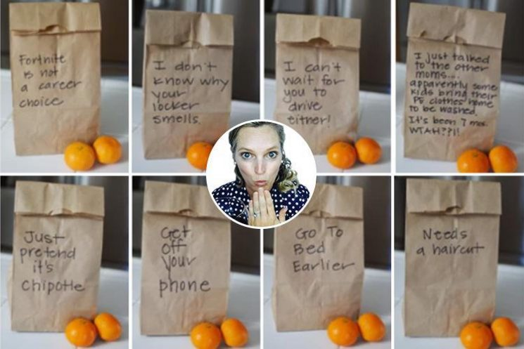 Mum's brilliant passive aggressive messages on her kid's lunch bags are so relatable fellow parents want to buy her paper bags