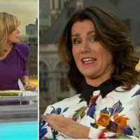Kate Garraway and Susanna Reid forced to style their own hair after snake-phobic stylist flees the Good Morning Britain studio