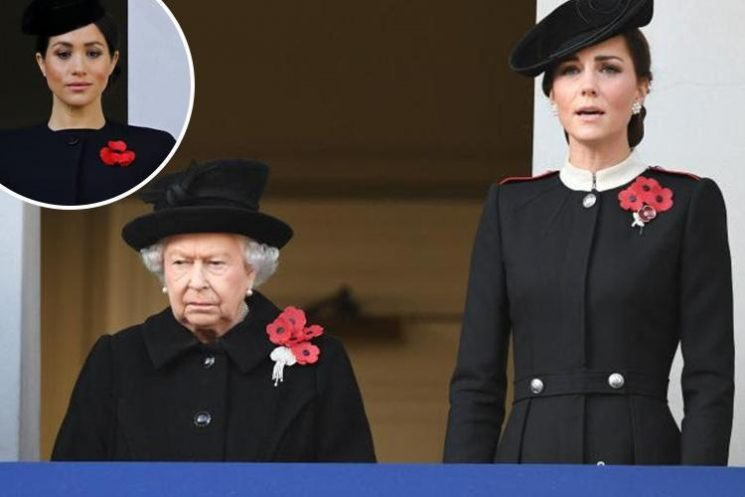 This is why Meghan Markle stood on a different balcony to the Queen and Kate Middleton during the Remembrance Service
