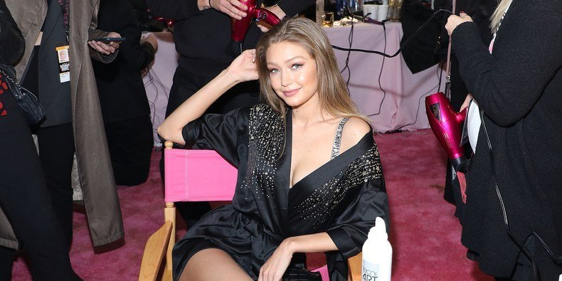 Gigi Hadid Has to Fight Back Tears at the Victoria's Secret Fashion Show
