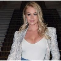 Iskra Lawrence Flaunts Her Curves In Low-Cut Ensembles Via Instagram