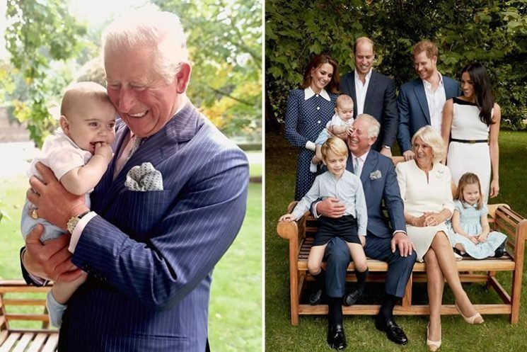 Heartwarming photos show Prince Charles cradling grandson Louis during his birthday