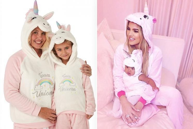 B&M is selling matching mini me unicorn PJs for mum and daughters priced from £8.99… and Khloe Kardashian would approve