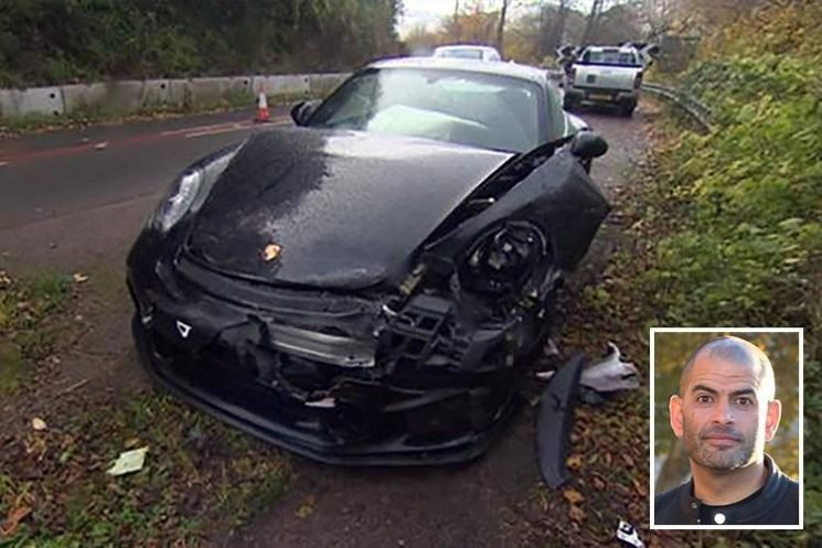 Top Gear presenter Chris Harris walks away unscathed after Porsche smash on country road