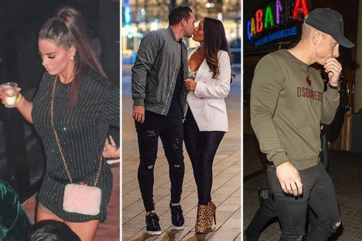 Katie Price almost suffers awkward run-in with ex Kieran Hayler and his girlfriend as she goes to the boxing with toyboy Kris Boyson