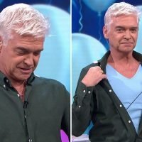 Phillip Schofield surprises This Morning viewers as he unbuttons his shirt live on air to reveal the gender of a couples unborn baby