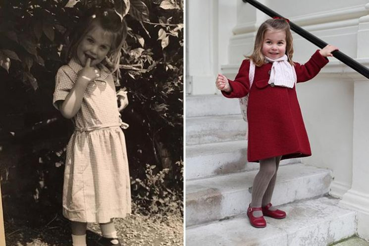 Princess Charlotte looks identical to Diana's niece as Lady Kitty Spencer shares throwback pic of her first day at school