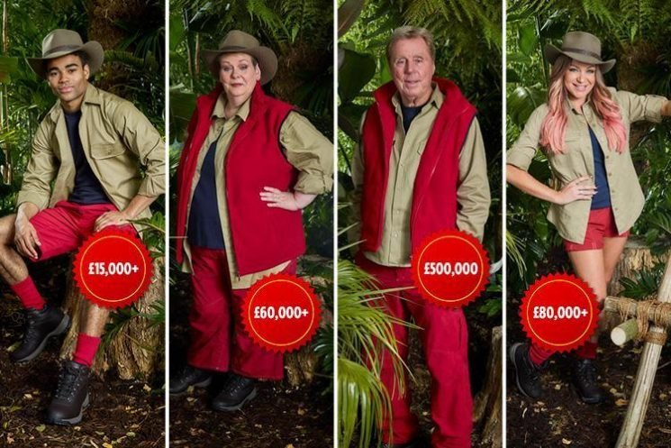 How much are the I'm A Celebrity stars getting paid? Harry Redknapp and Noel Edmonds' enormous salaries revealed