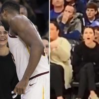 Kendall Jenner caught BOOING sister Khloe Kardashian's boyfriend Tristan Thompson as he prepares to shoot for the hoop in tense NBA clash