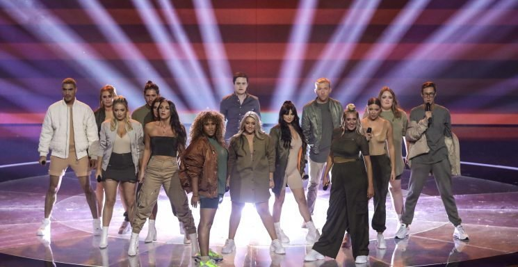 What time does X Factor start and finish tonight and who is still in the show?