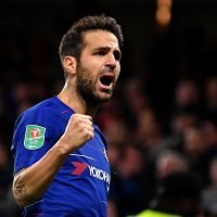 Chelsea ace Cesc Fabregas picks up referee's spray and moves it forward… but is he a genius or a cheat?