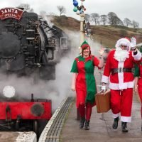 From a working farm to a steam train, here are six strange places to see Santa