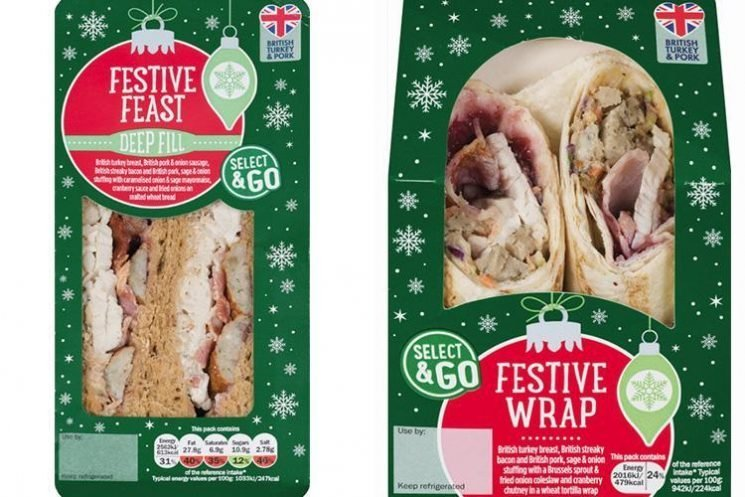 Lidl is selling a festive dinner wrap with SPROUT COLESLAW