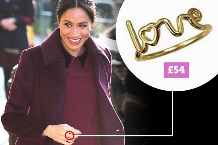 Meghan Markle wears £54 'Love' ring during 'secret' visit to Grenfell kitchen – but was it a gift from Prince Harry?