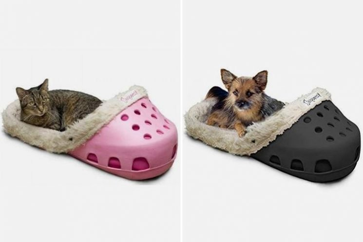 You can now get a CROCS shaped bed for your pet… but they don't come cheap