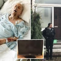 Cops urge underworld fences trying to sell 98-year-old war hero's TV to hand themselves in after sickening raid
