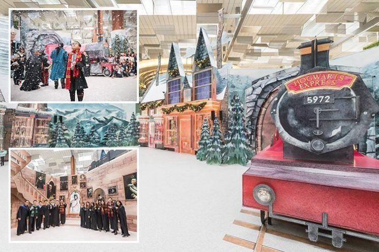 Airport transforms its terminals into famous Harry Potter locations