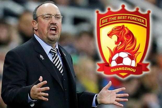 Newcastle boss Rafa Benitez wanted by Guangzhou Evergrande