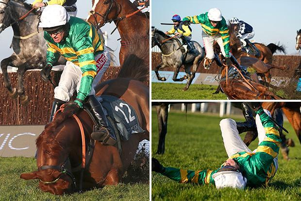 Incredible photos show Barry Geraghty and Movewiththetimes part company after fall at Cheltenham