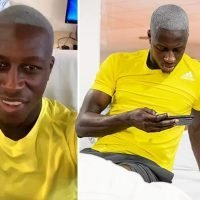 Man City star Benjamin Mendy shows off new haircut as he continues comeback from another knee injury