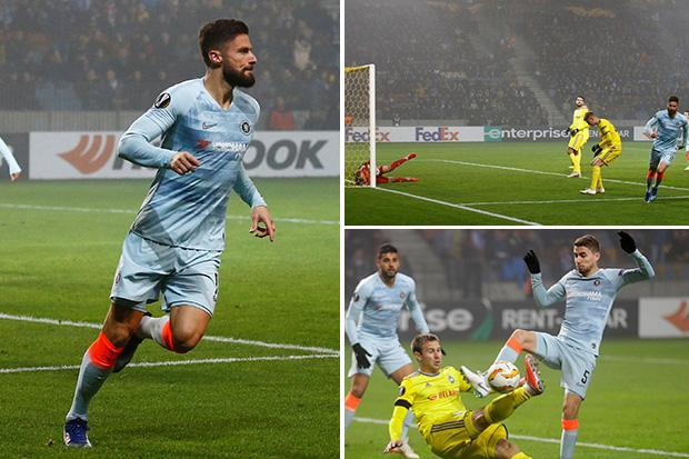 BATE Borisov 0 Chelsea 1: Blues through to knockout stages thanks to Olivier Giroud's header