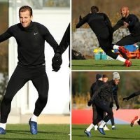 England stars in good spirits in training after Croatia's star man is ruled out of Uefa Nations League clash