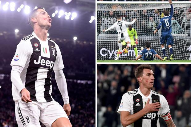 Juventus 2 SPAL 0: Cristiano Ronaldo and Mario Mandzukic goals extend Serie A lead to nine points
