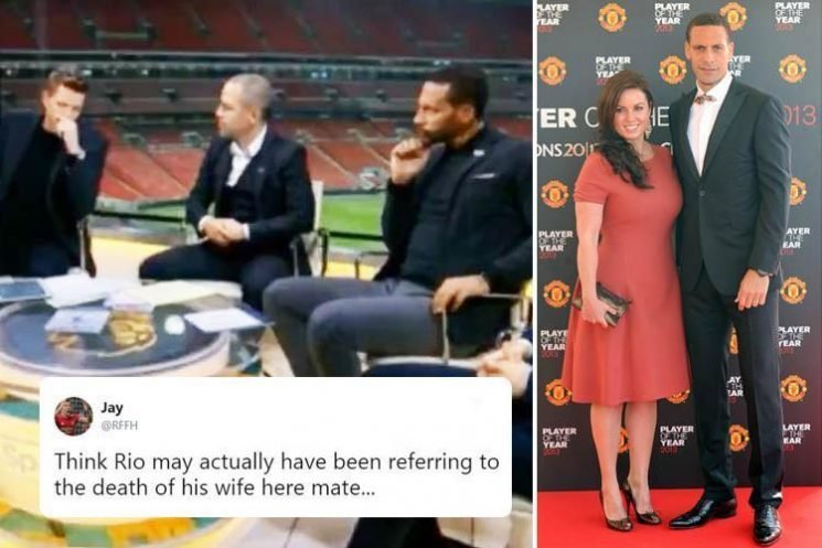 Fans furious at Jake Humphrey's ill-judged joke after Man Utd legend Rio Ferdinand hints wife's death ended managerial career hopes