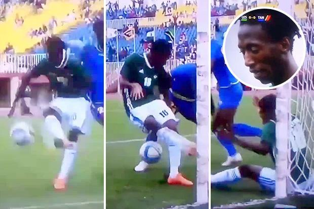 Is this howler by Lesotho ace Tumelo Khutlang the worse double miss of all time in clash against Tanzania?