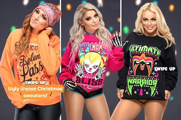 WWE superstars release ugly Christmas jumpers in hilarious fashion… with even the 'Baddest Woman on the Planet' Ronda Rousey getting in on the act