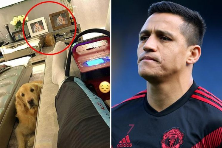 Alexis Sanchez baffles fans as he has identical framed dog pictures in his house as Manchester United striker recovers from hamstring injury