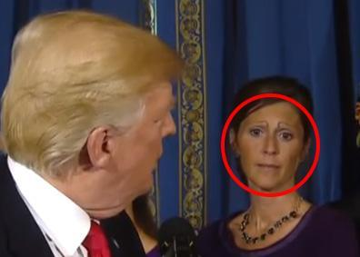Trump has given a press conference on healthcare, but people are distracted by this woman's eyebrows instead