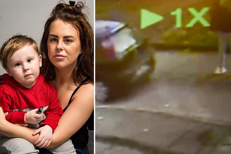 CCTV reveals shocking moment maniac driver 'reversed into young mum' during road rage row