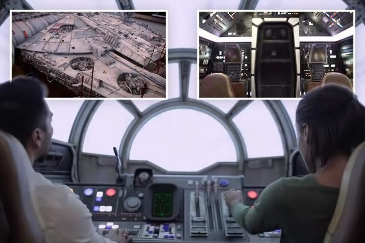 New Millenium Falcon ride at Star Wars land at Disney World – take a look inside