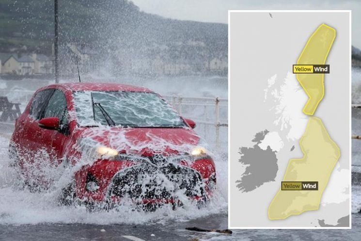 UK weather forecast – Storm Diana set to bring second day of chaos with 80mph gales and torrential rain to spark travel hell and flood warnings