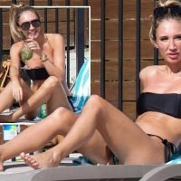 Megan McKenna strips to a bikini and sips a cocktail as she soaks up the sun in Australia after I'm A Celebrity appearance