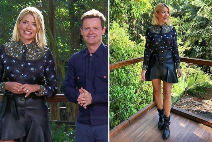 How to get Holly Willoughby's I'm a Celebrity leather and floral look for less