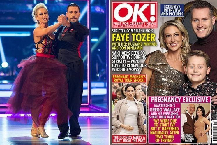 Faye Tozer's husband claims Strictly practice has left her looking like she's 'been attacked'
